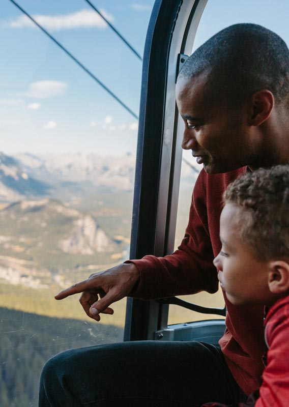 Ride to the top of Sulphur Mountain on the Banff Gondola