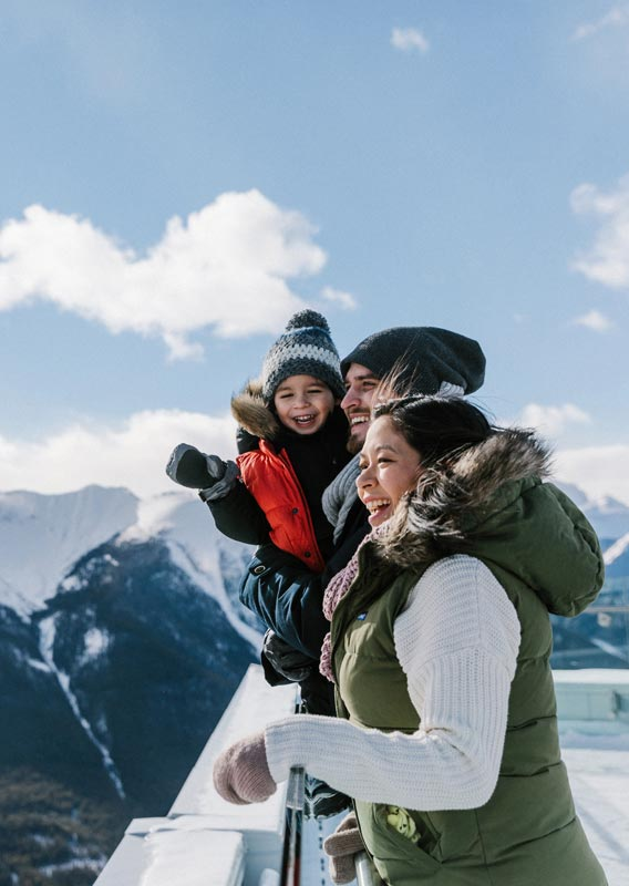 Family fun at the top of the Banff Gondola