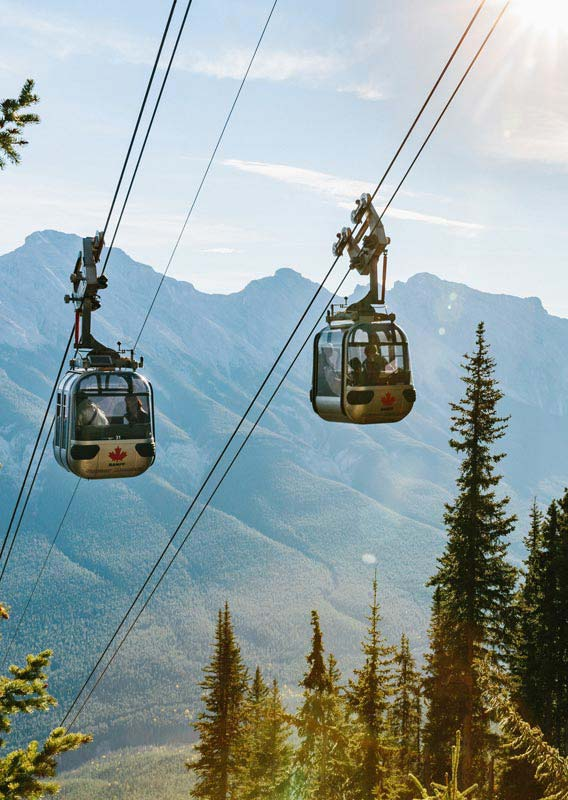Banff Gondola on Sulphur Mountain
