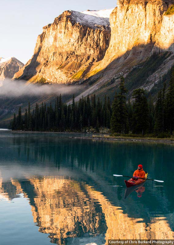 Kayaking at Maligne Lake, Jasper