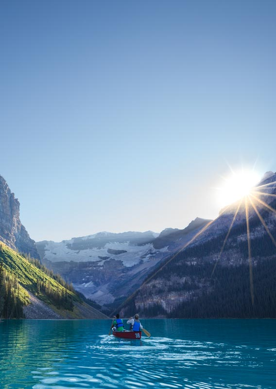 Canoeing at Lake Louise
