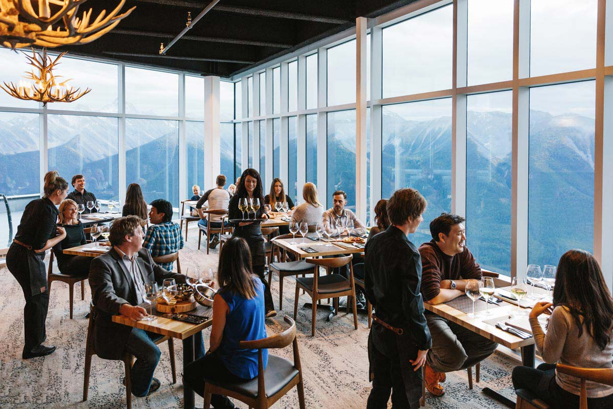 Sky Bistro: Mountain Top Dining at the Banff Gondola   Inspired Menu