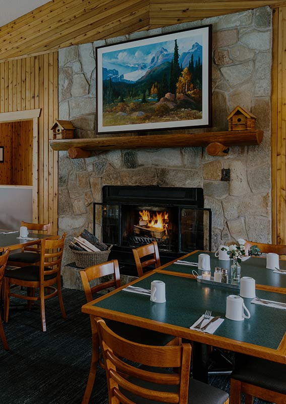 The dining room at Poco's Cafe and Lounge