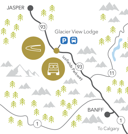 Glacier View Lodge location