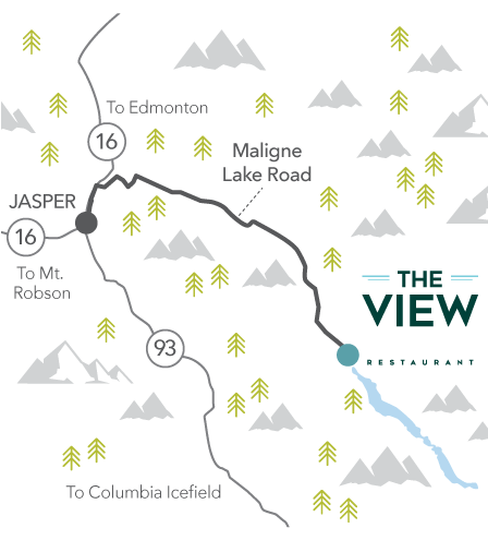 The View location map