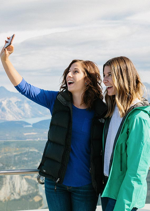 Taking a selfie at the Banff Gondola