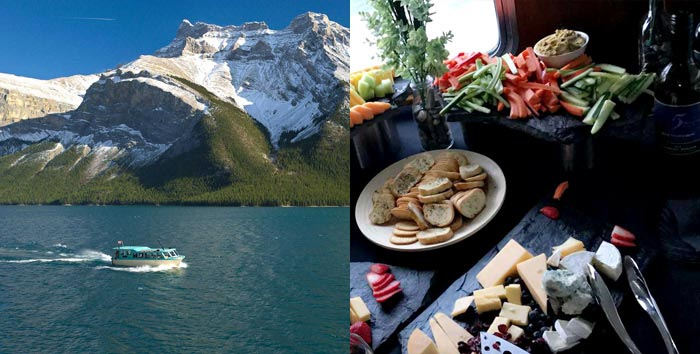 Banff Lake Cruise with Wine and Cheese