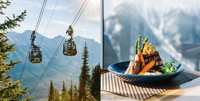 Banff Gondola and dinner at Sky Bistro