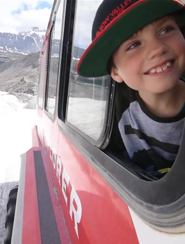 Video: Connor and Logan On the Loose at the Columbia Icefield