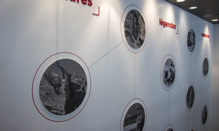 Images on the walls at the Icefield Centre