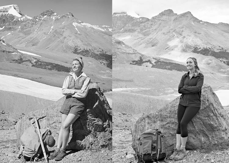 Left: Gen in 1947 and Right: Her Granddaughter Kylie in 2017
