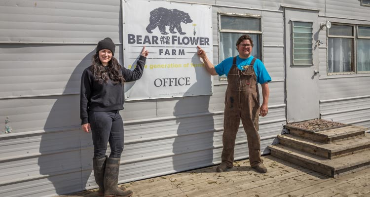 Farmers showcase the Bear and the Flower Farm