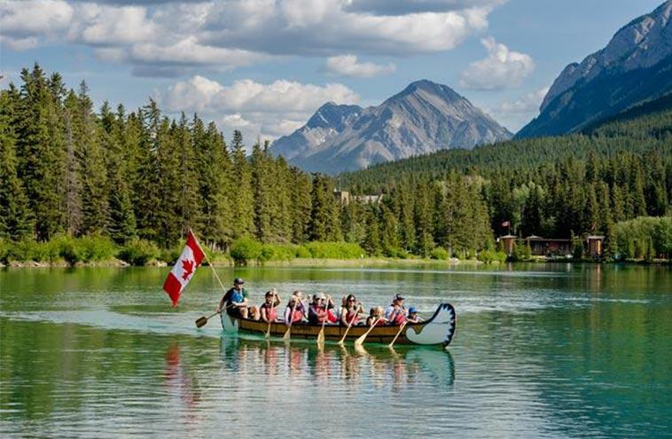 Banff Voyageur Canoe Tour Family Fun Interpretive Paddle