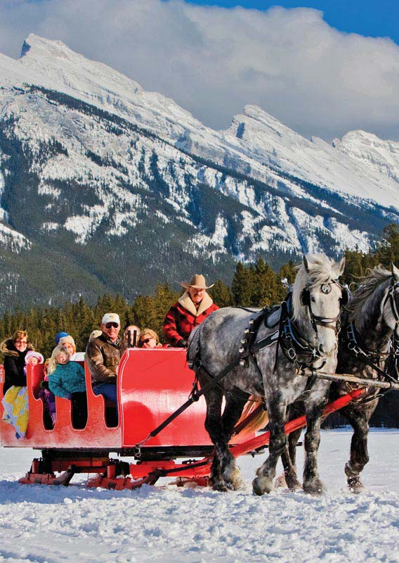 Sleigh Ride below Mt Rundle